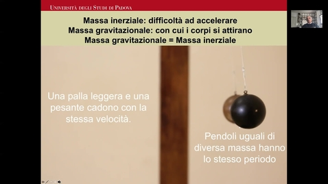 Thumbnail for entry Massa inerziale e massa gravitazionale