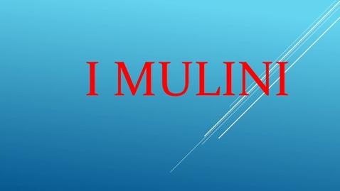 Thumbnail for entry I mulini