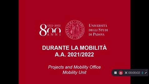 Thumbnail for entry Durante la mobilità Erasmus/SEMP