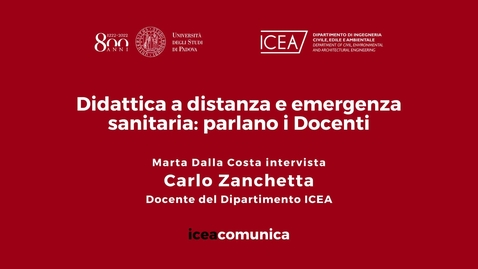 Thumbnail for entry Iceacomunica intervista il Professore Carlo Zanchetta