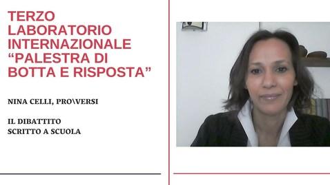 Thumbnail for entry Nina Celli - ProVersi: Il dibattito scritto a scuola