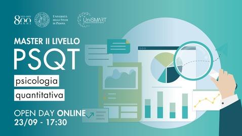 Thumbnail for entry Open Day Master PSQT - Psicologia Quantitativa - 23/09/20