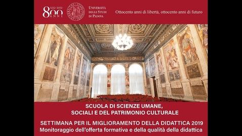 Thumbnail for entry Settimana per il miglioramento della didattica 2019 - Prof.ssa Marina Bertoncin