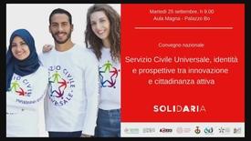 Thumbnail for entry Servizio Civile Universale, identità e prospettive tra innovazione e cittadinanza attiva