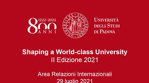 Thumbnail for entry Incontro informativo Bando Shaping a World Class University (2a edizione)