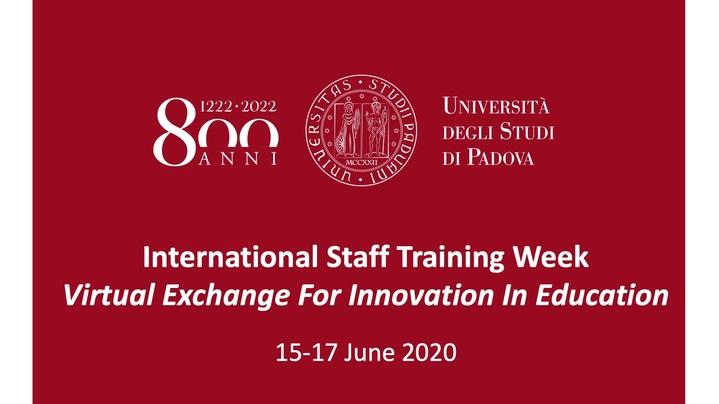 Thumbnail for channel International Staff Training Week (15-17 June 2020)