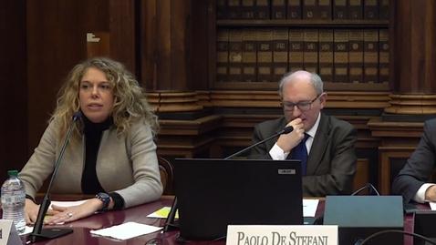 Thumbnail for entry Intervento di Daniela Fatarella, vice direttore Save the Children Italia, 27 febbraio 2019
