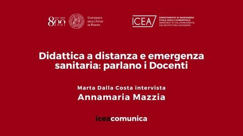 Thumbnail for entry Iceacomunica intervista la Professoressa Annamaria Mazzia