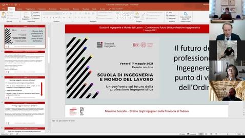 Thumbnail for entry Intervento Presidente Ordine degli Ingegneri di Padova