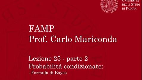 Thumbnail for entry FAMP - Lezione 25, parte 2
