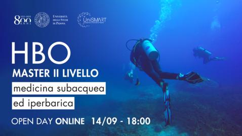 Thumbnail for entry Open Day Master HBO - Medicina Subacquea ed Iperbarica - 14/09/20