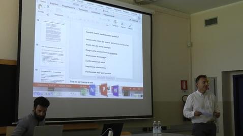 """Thumbnail for entry Percorso magistrale """"Pianificazione e politiche per la città il territorio e l'ambiente"""" dello IUAV di Venezia: Prof. Denis Maragno."""