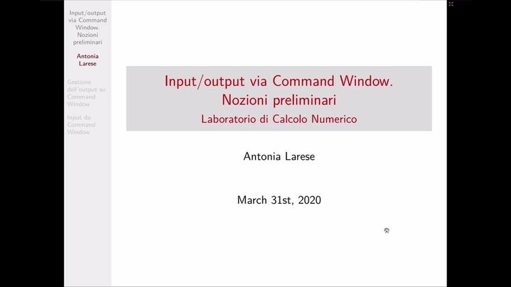 Thumbnail for channel Lab Calcolo Numerico - LT Informatica