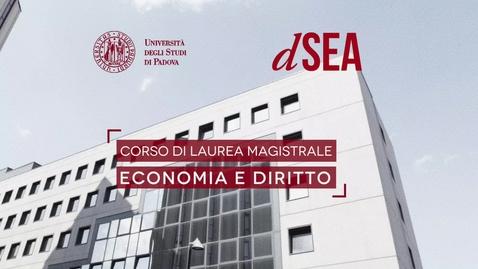 """Thumbnail for entry Presentazione Corso di Laurea Magistrale """"Economia e Diritto"""".mov"""
