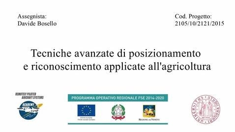 Thumbnail for entry Tecniche avanzate per il controllo di un sistema uav in ambito agricolo