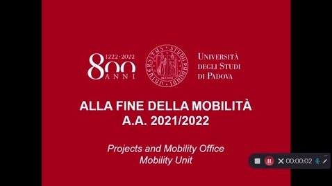 Thumbnail for entry Alla fine della mobilità Erasmus/SEMP