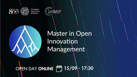 Thumbnail for entry Open Day Master MOIM - Open Innovation Management - 15/09/20
