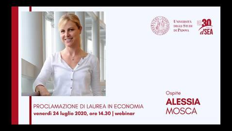 Thumbnail for entry Laurea in Economia, 24 luglio 2020 - pomeriggio