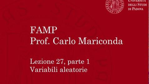 Thumbnail for entry FAMP - Lezione 27, parte 1