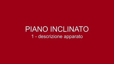 Thumbnail for entry 01 Piano Inclinato - descrizione apparato