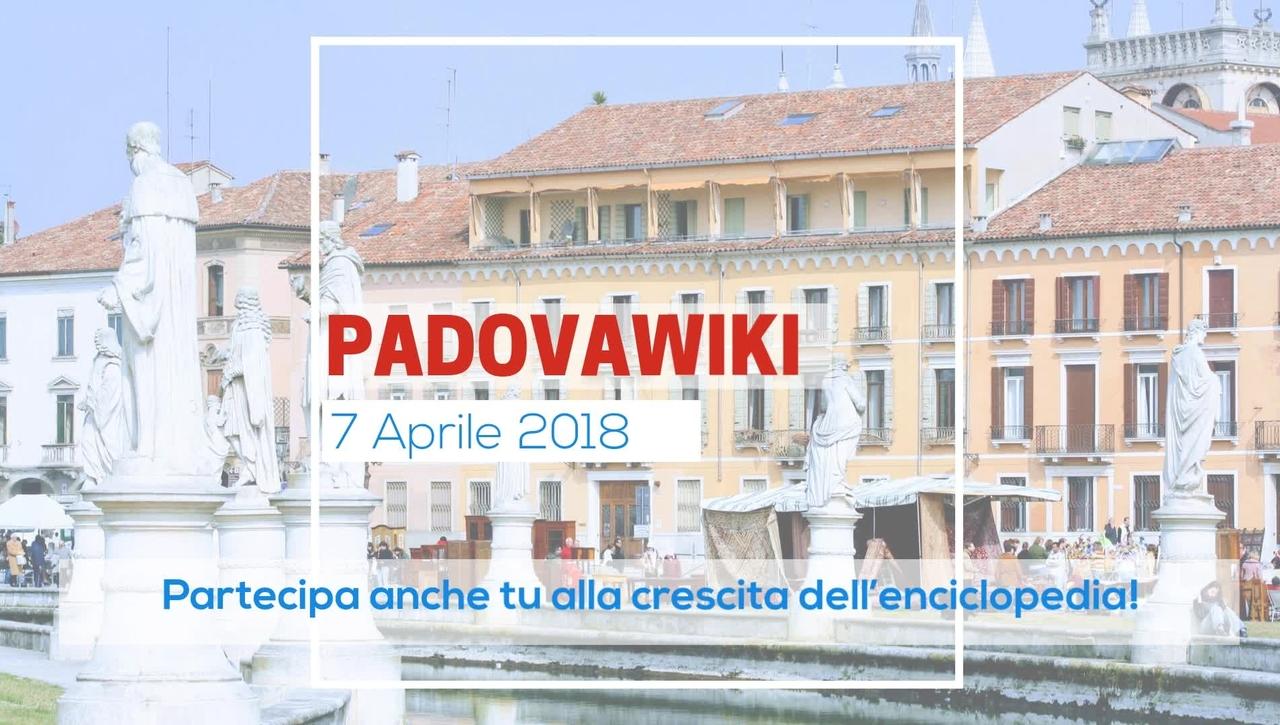 PadovaWiki -7 aprile 2018