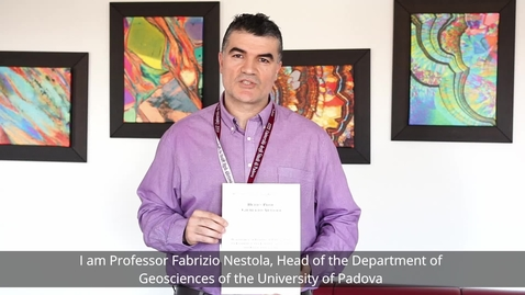 """Thumbnail for entry To prof. Gilberto Artioli the """"Liebau Prize for the Promotion of Interdisciplinarity in Crystallography"""""""