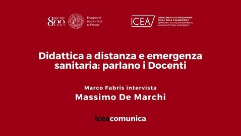 Thumbnail for entry Iceacomunica intervista il Professore Massimo De Marchi