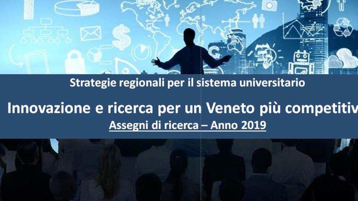 Thumbnail for channel PROGETTI FSE DGR 1463 8/10/2019 -Regione Veneto