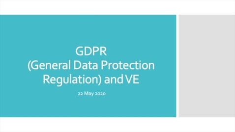Thumbnail for entry GDPR and Virtual Exchange - community webinar
