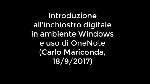 Thumbnail for entry Introduzione all'inchiostro digitale