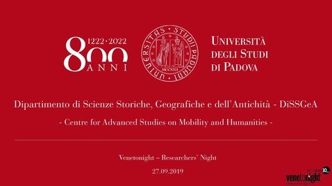 Thumbnail for entry 1222-2022: la mobilità degli studenti di Padova nello spazio, nel tempo, nel sapere
