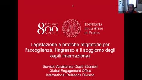 Thumbnail for entry Legislazione e pratiche migratorie nella gestione di accoglienza, ingresso e soggiorno degli ospiti internazionali