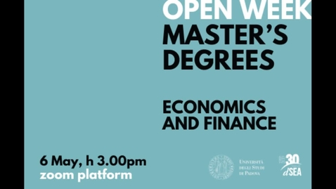 Open Day Economics and Finance