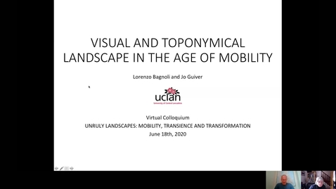 Thumbnail for entry S2 - #1 BAGNOLI and GUIVER - Visual and Toponymical landscape in the age of mobility