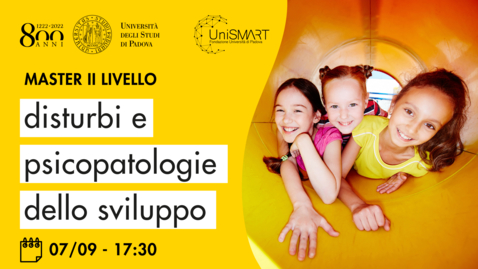 Thumbnail for entry Open Day Master DPdS - Disturbi e Psicopatologie dello Sviluppo - 07/09/20