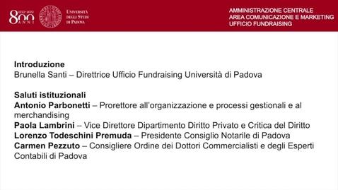 Thumbnail for entry Introduzione e saluti