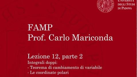 Thumbnail for entry FAMP - Lezione 12, parte 2