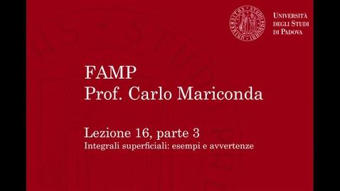 Thumbnail for entry FAMP - Lezione 16, parte 3