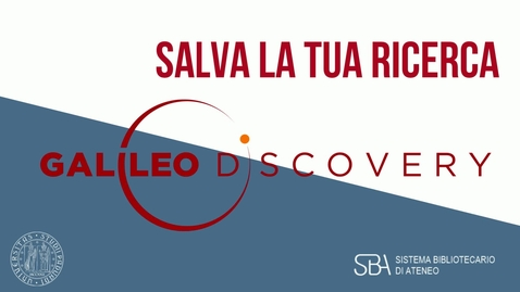 Thumbnail for entry TUTORIAL Salva la tua ricerca