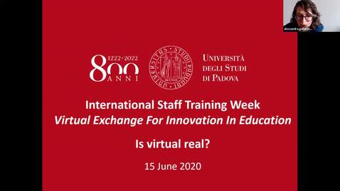 Thumbnail for entry International Staff Training Week 2020 - DAY 1