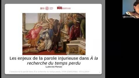 Thumbnail for entry 6.Enjeux-de-la-parole-injurieuse_Ludovico-MONACI.mp4