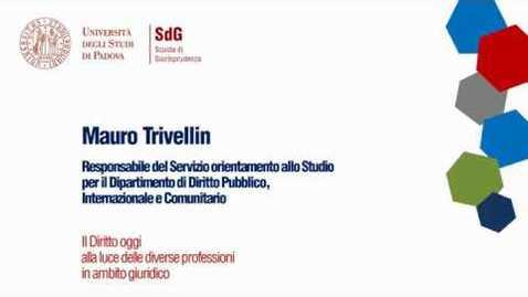Thumbnail for entry Il Diritto oggi alla luce delle differenti professioni in ambito giuridico - Mario Trivellin