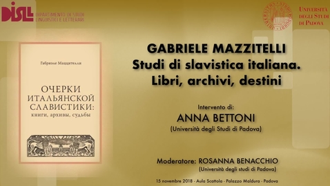Thumbnail for entry Saluti istituzionali