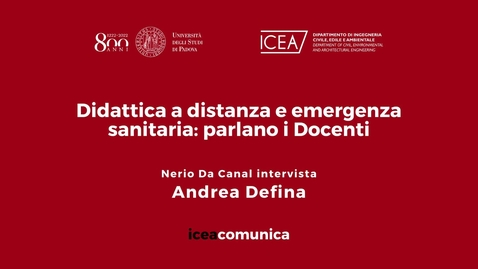 Thumbnail for entry Iceacomunica intervista il Professore Andrea Defina