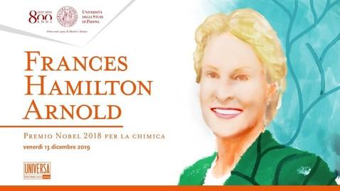 Thumbnail for entry Dottorato ad honorem a Frances Hamilton Arnold, Premio Nobel per la Chimica 2018