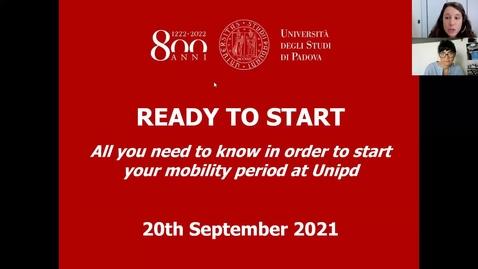 """Thumbnail for entry Webinar """"Ready to start"""" - 20th September"""