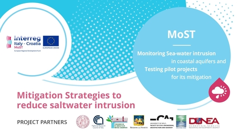 Thumbnail for entry MoST - Monitoring Sea-water intrusion in coastal aquifers and Testing pilot projects for its mitigation