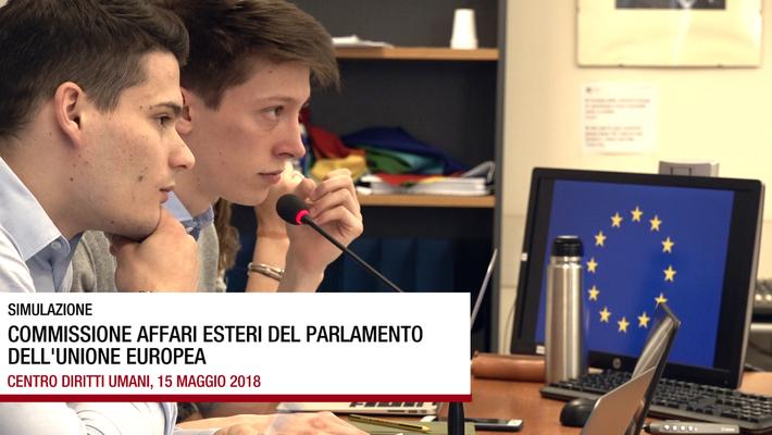 Simulazione di una seduta del Parlamento Europeo, 15 maggio 2018