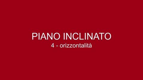 Thumbnail for entry 04 Piano Inclinato - Orizzontalità