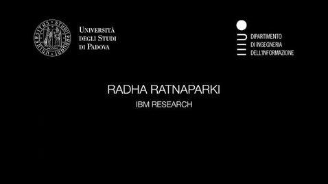 Thumbnail for entry Radha Ratnaparki